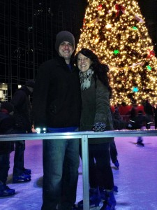Our 1st time on skates Dec 2013