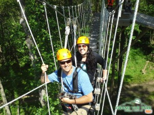 Zip Lining in Grand View State Park Wv
