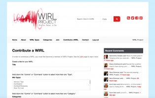 How To Contribute a WIRL at WIRL Project