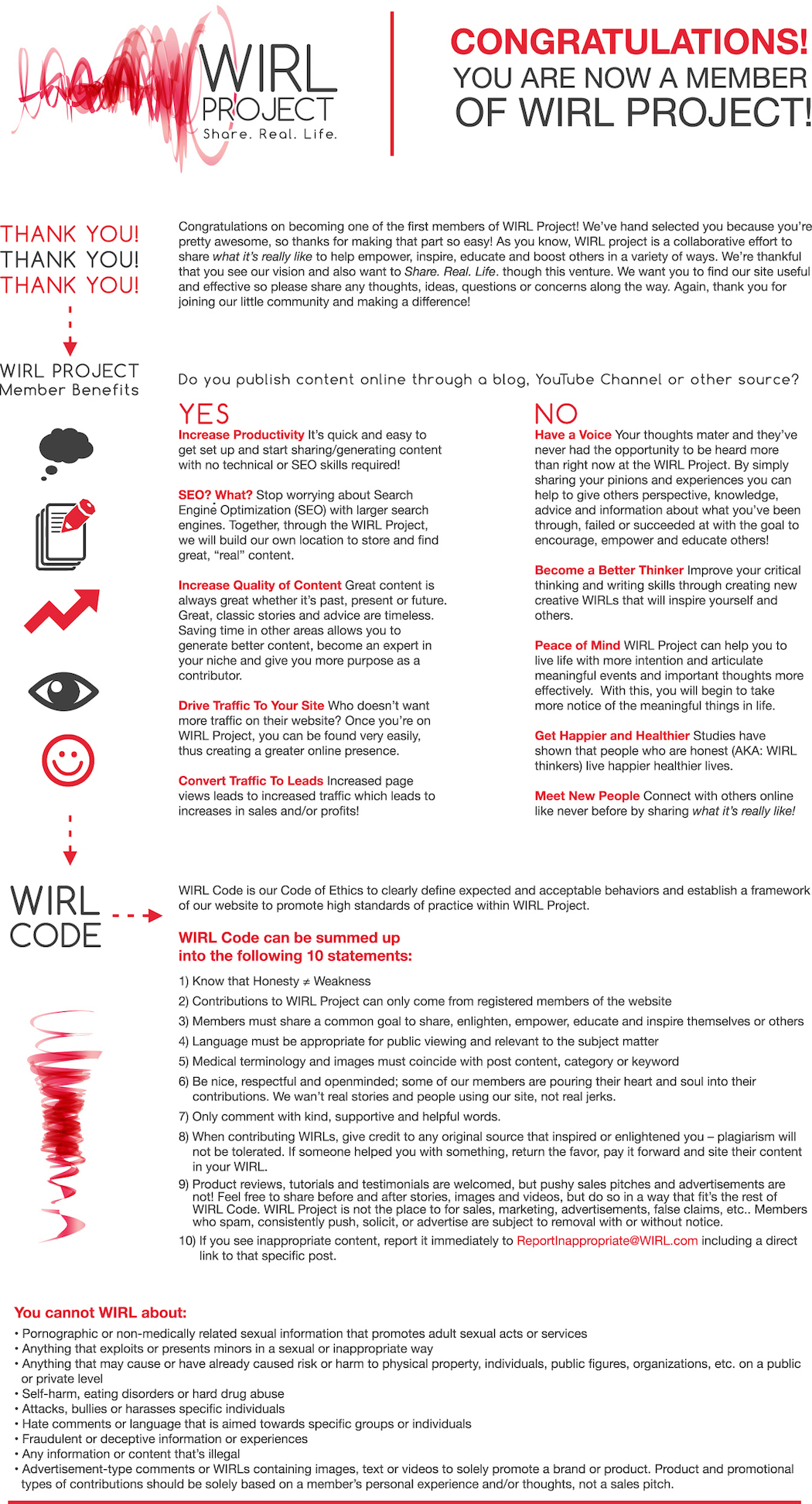 WIRL Project Member Infographic